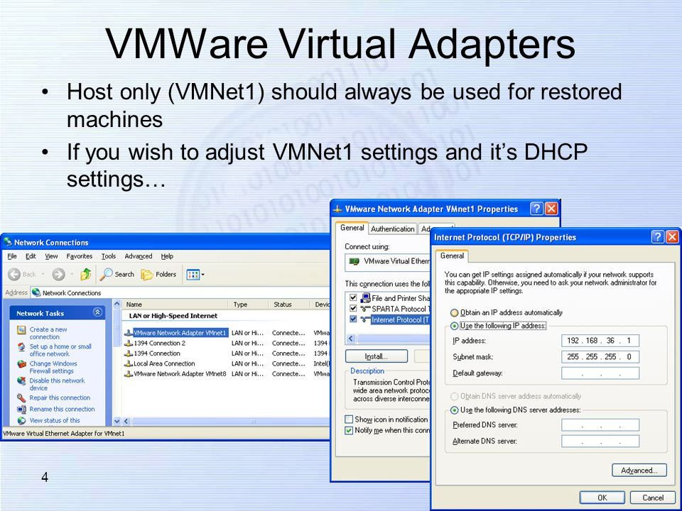 1 VMWare Networking CSC 486/ Overview VMWare Networking Features