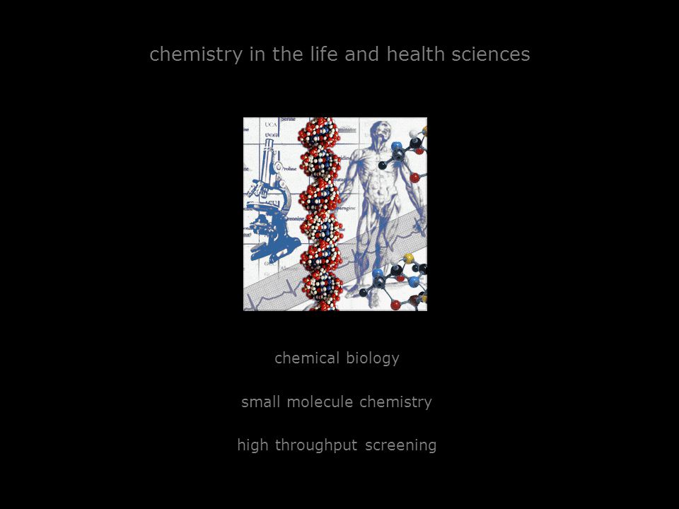 chemistry in the life and health sciences chemical biology small molecule chemistry high throughput screening