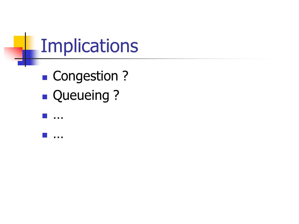 Implications Congestion Queueing …