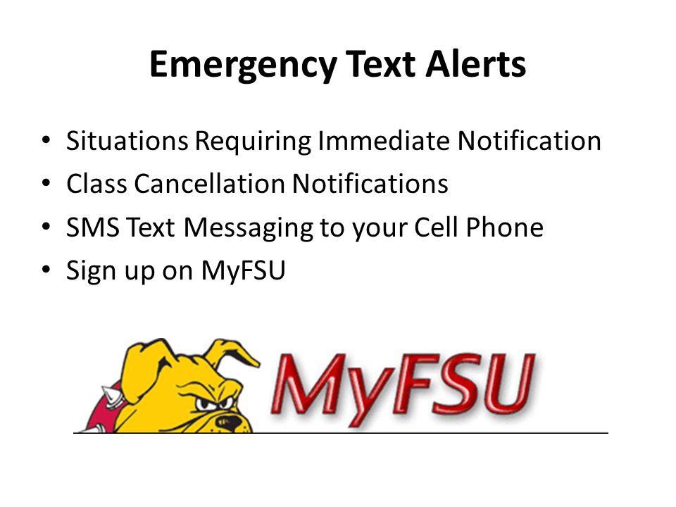 FSU Campus Safety Update Campus Communications CityWatch