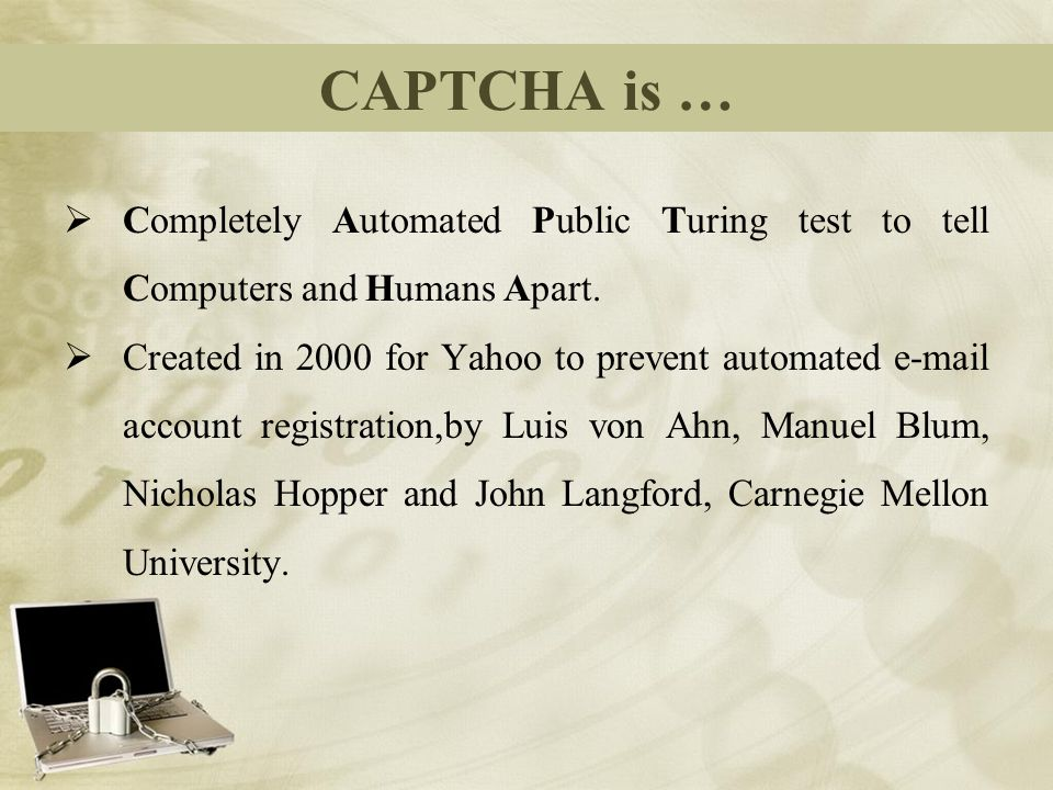 Captcha ppt presentation youtube.
