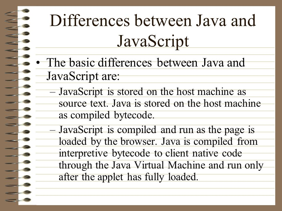 Cs 898n advanced world wide web technologies lecture 14 differences between java and javascript the basic differences between java and javascript are javascript urtaz Gallery