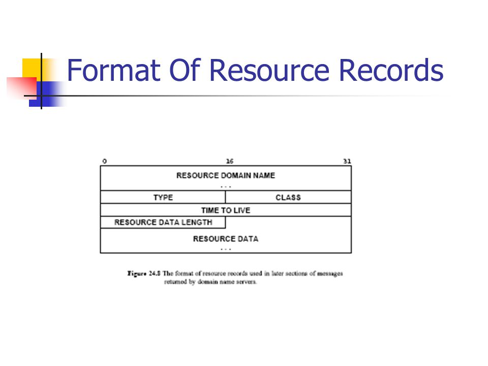 Format Of Resource Records