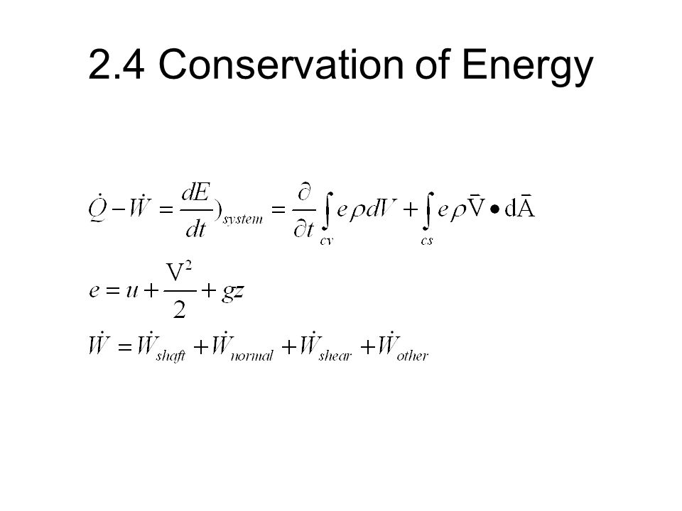 2.4 Conservation of Energy
