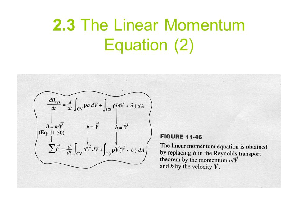 2.3 The Linear Momentum Equation (2)