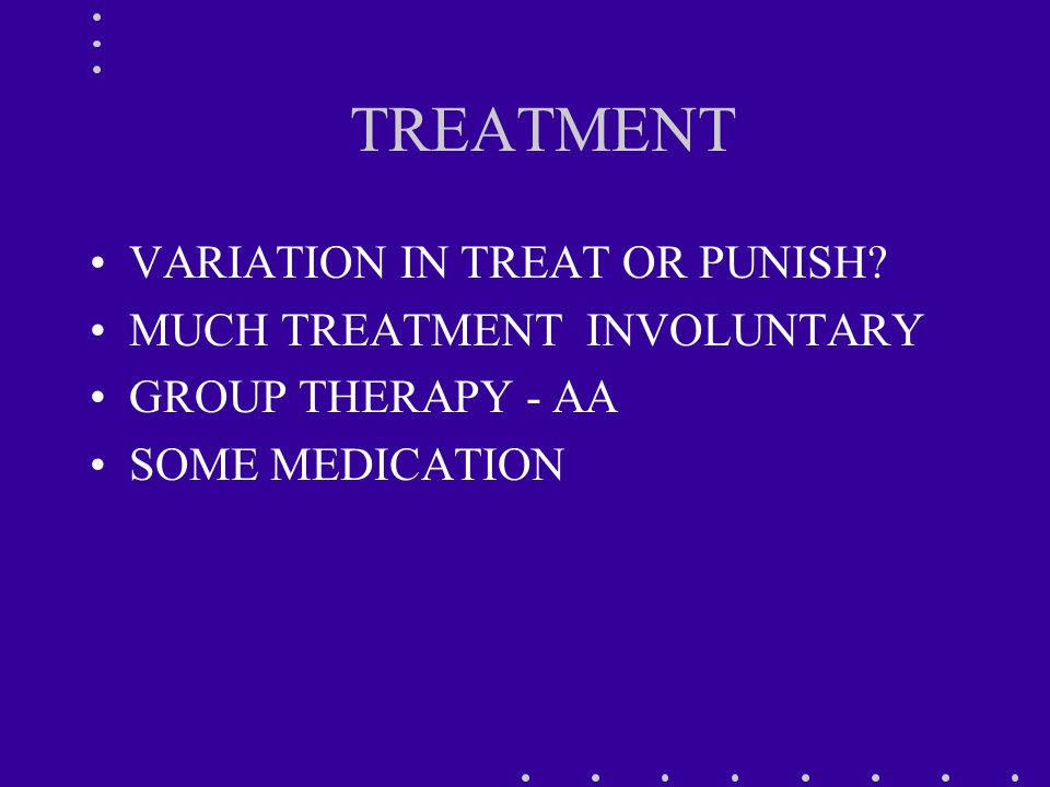 TREATMENT VARIATION IN TREAT OR PUNISH.