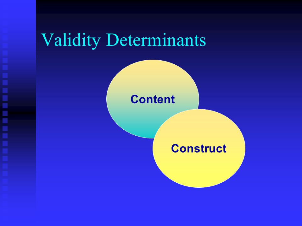 Validity Determinants Content Construct