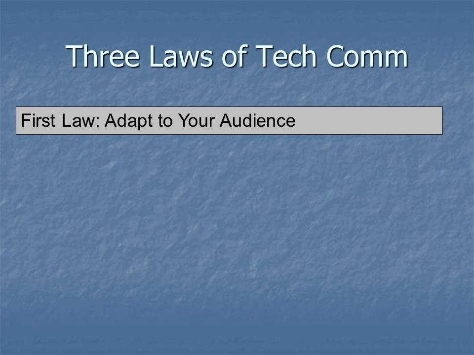 Overview Three Laws of Technical Communication Three Laws of Technical Communication Building PowerPoint Presentations Building PowerPoint Presentations PowerPoint Gone Bad PowerPoint Gone Bad