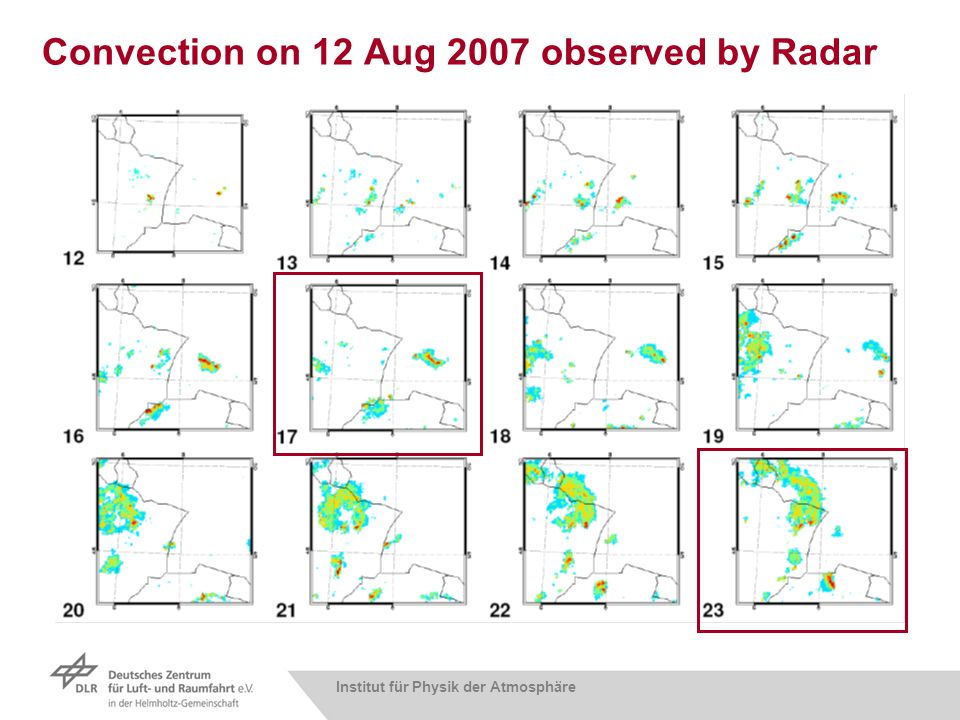 Institut für Physik der Atmosphäre Convection on 12 Aug 2007 observed by Radar