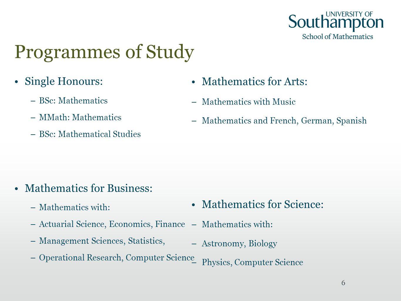Mathematics, Actuarial Science and Statistics University of
