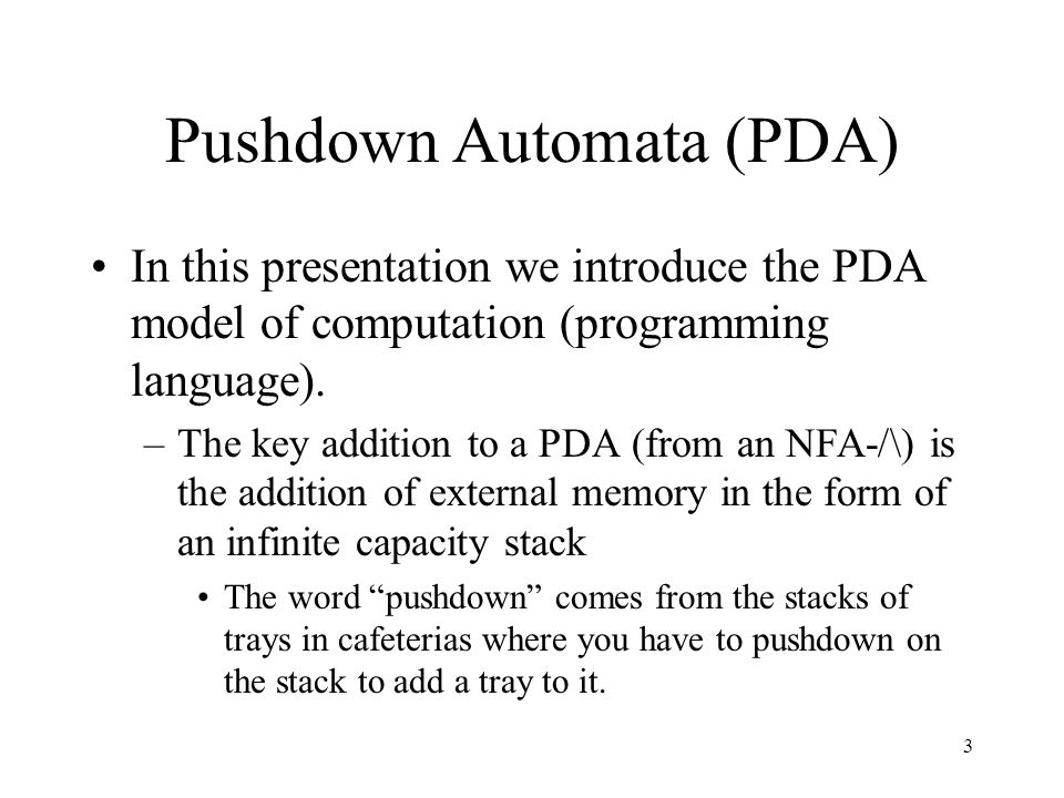What is meant by pda
