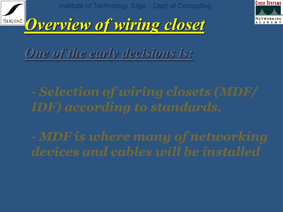 institute of technology sligo dept of computing chapter 8 network rh slideplayer com Residential Wiring Closet Wiring Closet Diagram