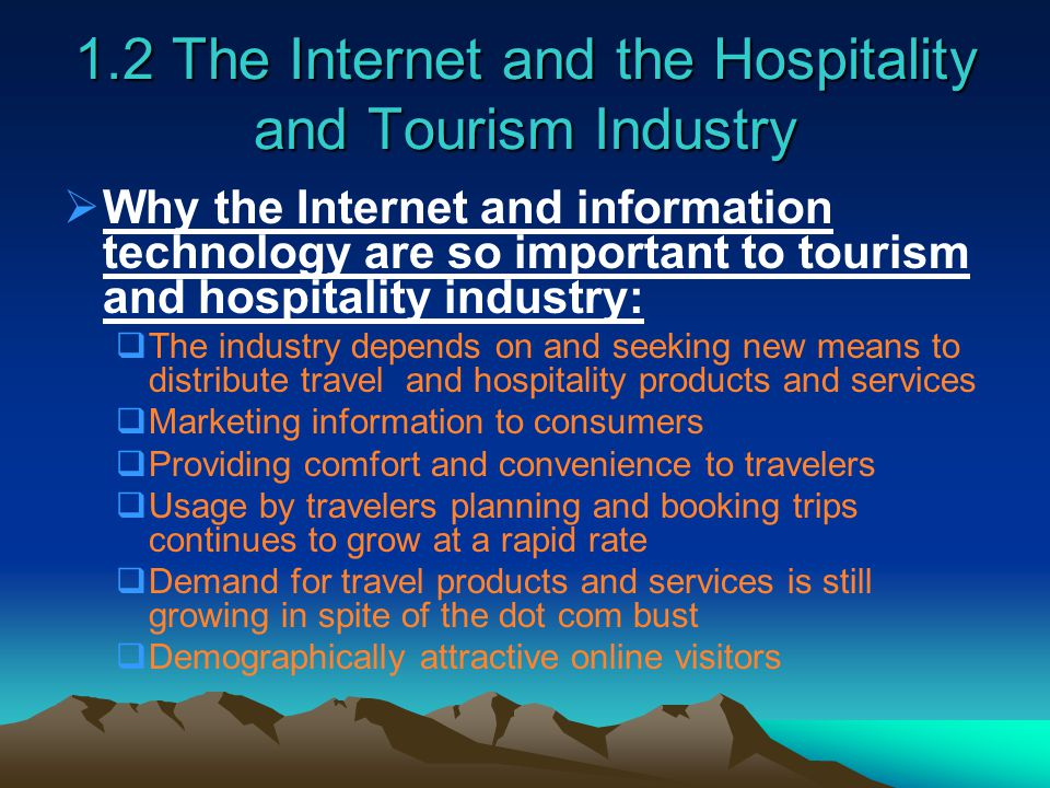 the importance of technology for the tourism industry