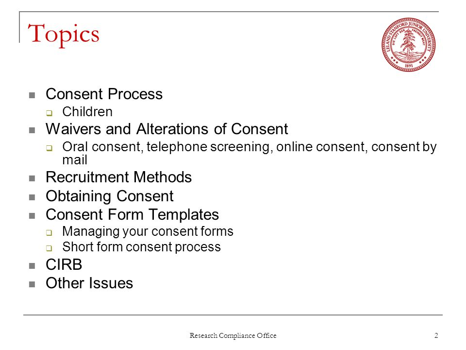 2 Research Compliance ...