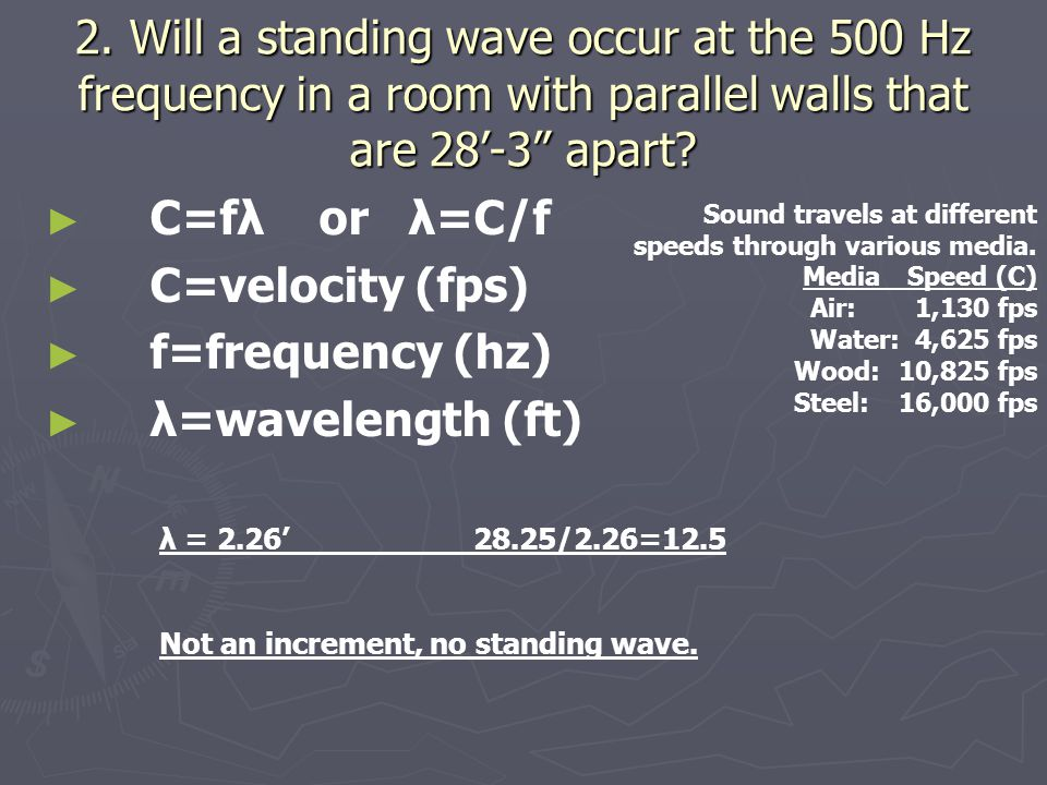 Acoustics Worksheet Answer Key 1 Calculate The Wavelengths At The