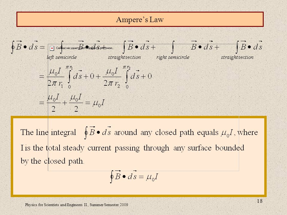 Physics for Scientists and Engineers II, Summer Semester Ampere's Law
