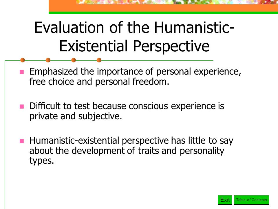 the humanistic perspective emphasized the importance of