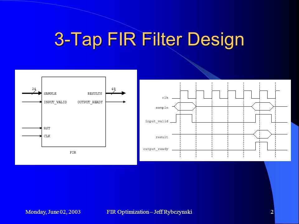 1 3-Tap FIR Filter Optimizations By: Jeff Rybczynski CMPE ppt download