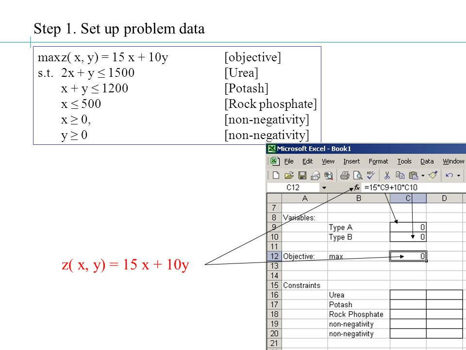 Solving LP's using Microsoft Excel™ Common LP Solvers: Commercial