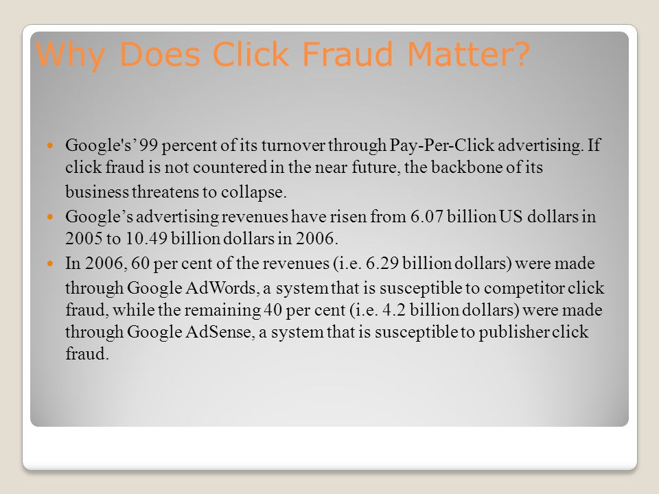 Why Does Click Fraud Matter.