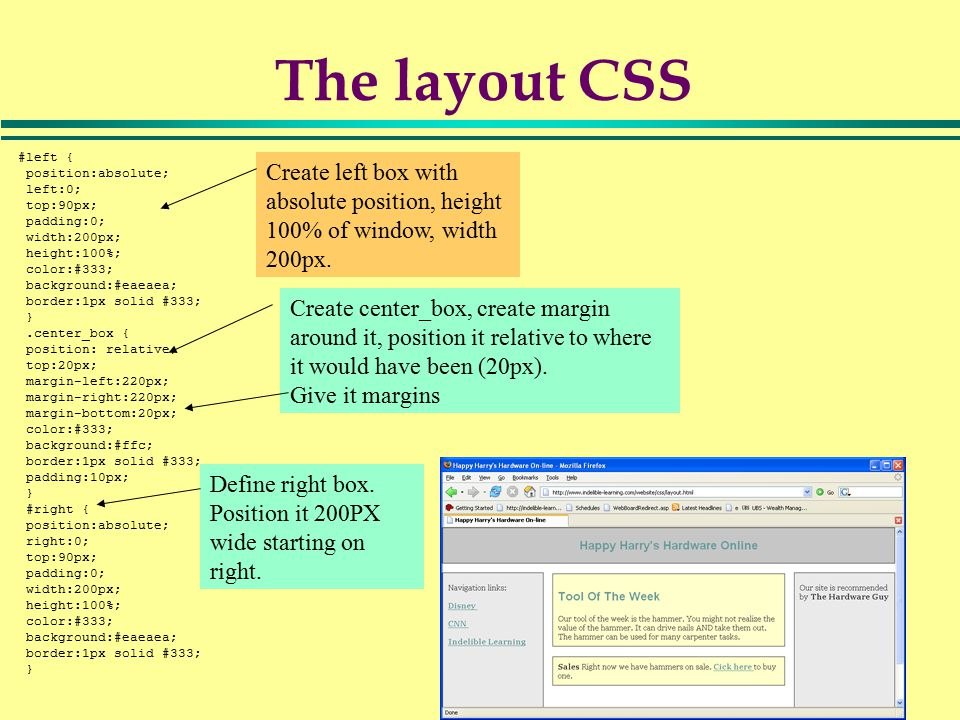1 Using Cascading Style Sheets For Design Cascading Style