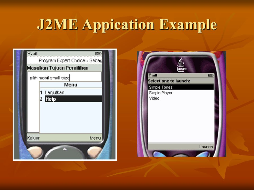 J2ME Appication Example