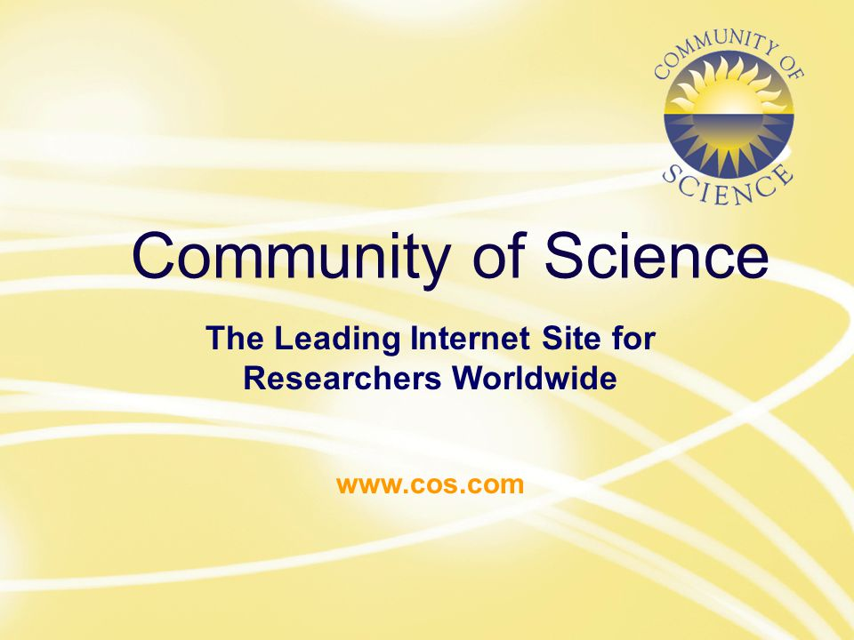 Community of Science The Leading Internet Site for Researchers Worldwide