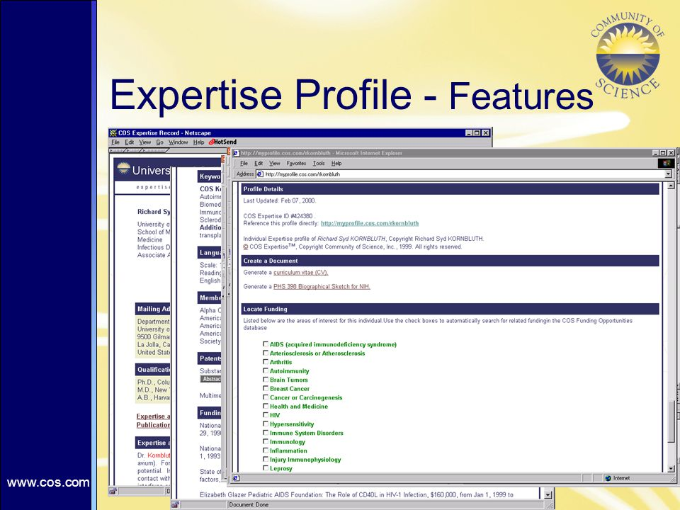 Expertise Profile - Features