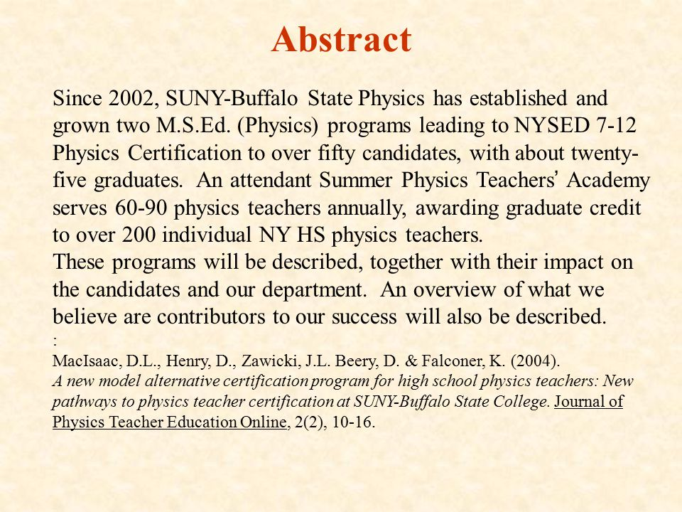 Addressing The Physics Teacher Shortage By Masters Level Cross And