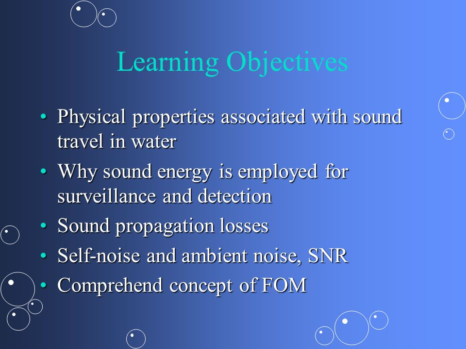 Principles of Underwater Sound Naval Weapons Systems  - ppt