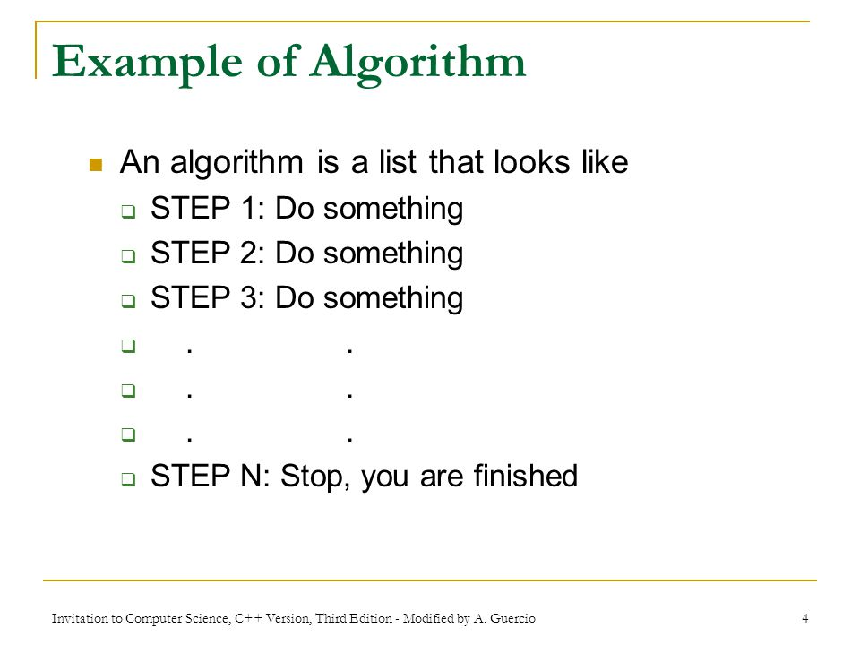 Chapter 1 An Introduction To Computer Science Invitation To