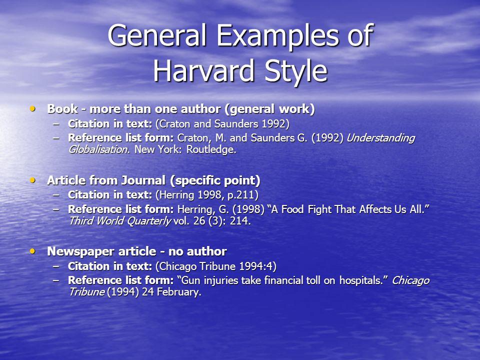 harvard style book