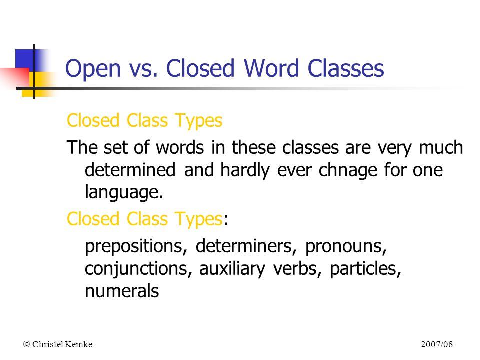 Christel Kemke 2007/08 COMP 4060 Natural Language Processing