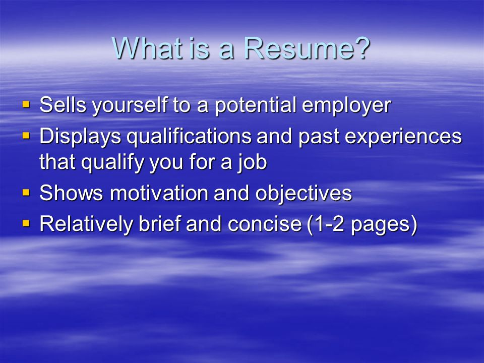 What is a Resume.