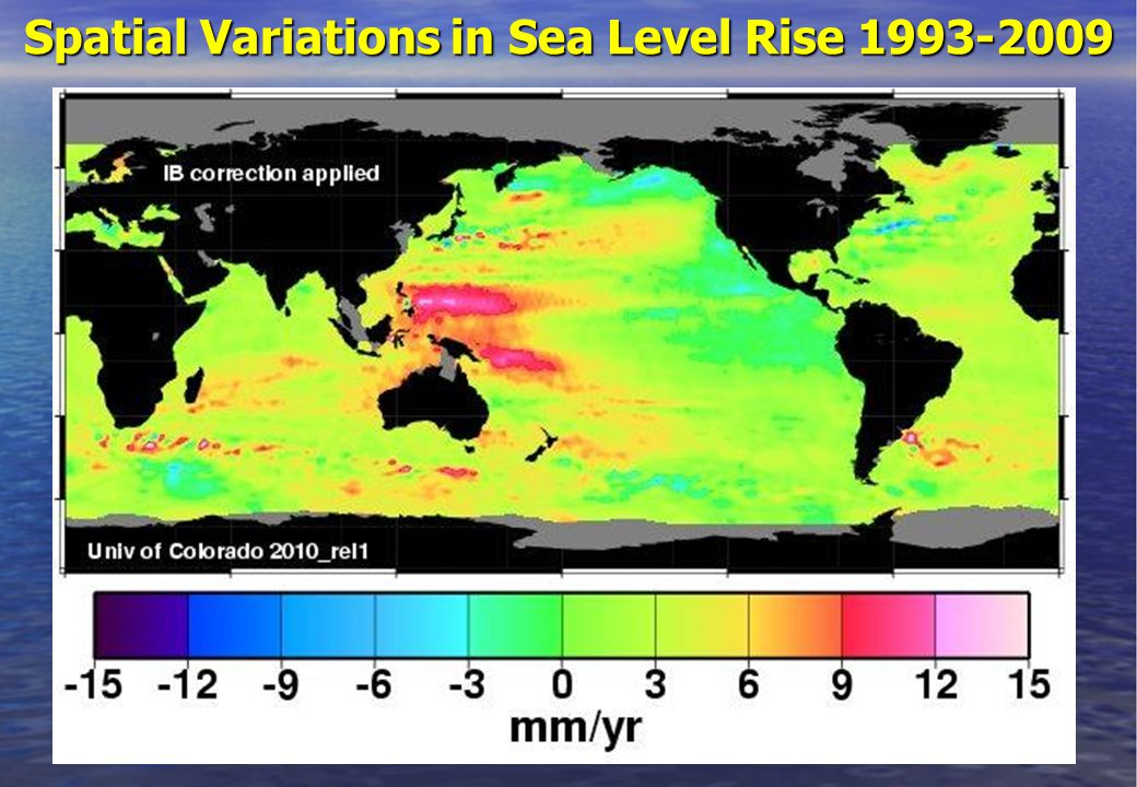 Spatial Variations in Sea Level Rise