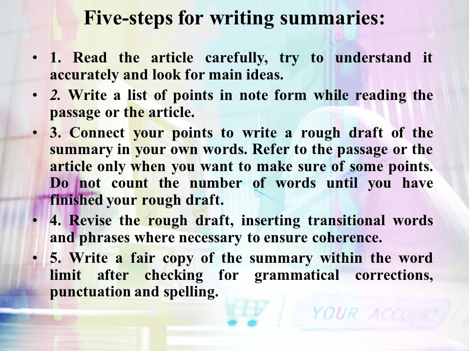 how to write a good summary in english
