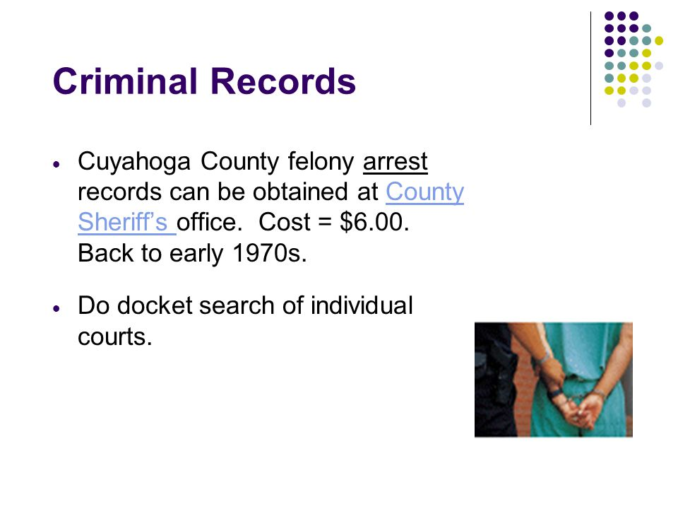 Free and Low Cost Public Records Research on the Web Cuyahoga County