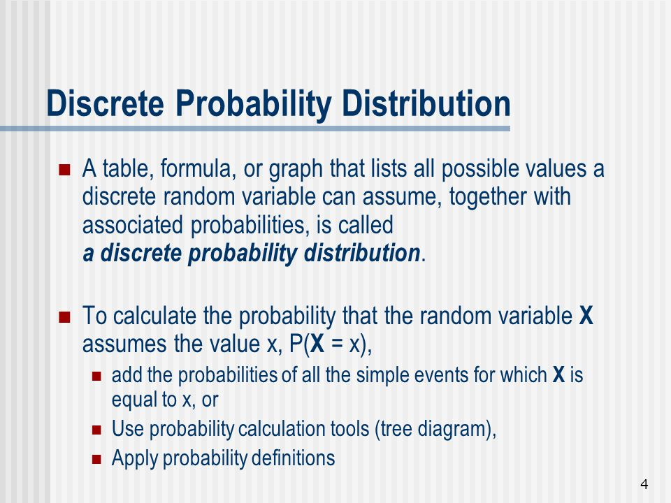 1 Random Variables And Discrete Probability Distributions Chapter