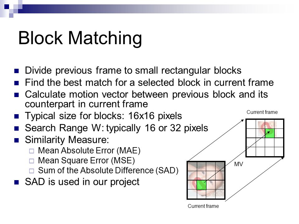 Match block from search