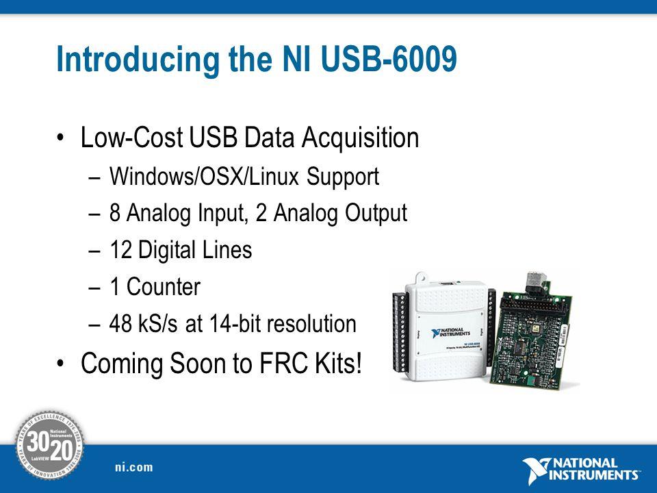 National Instruments USB 6009 14-Bit 48kS//s Low-Cost multifunction DAQ
