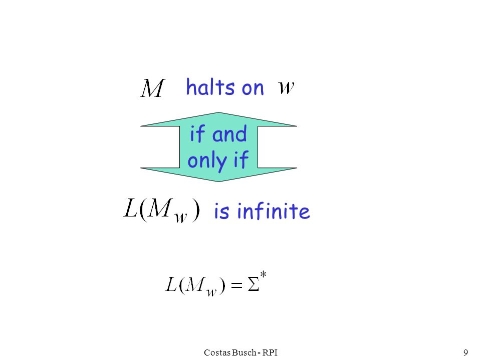 Costas Busch - RPI9 halts on is infinite if and only if