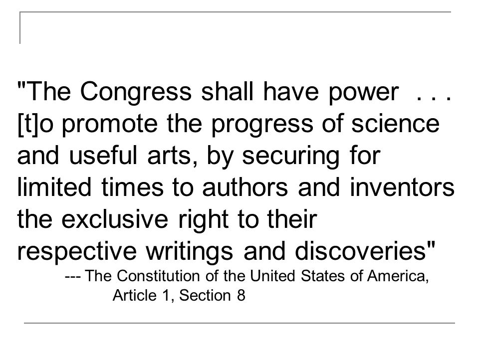 The Congress shall have power...