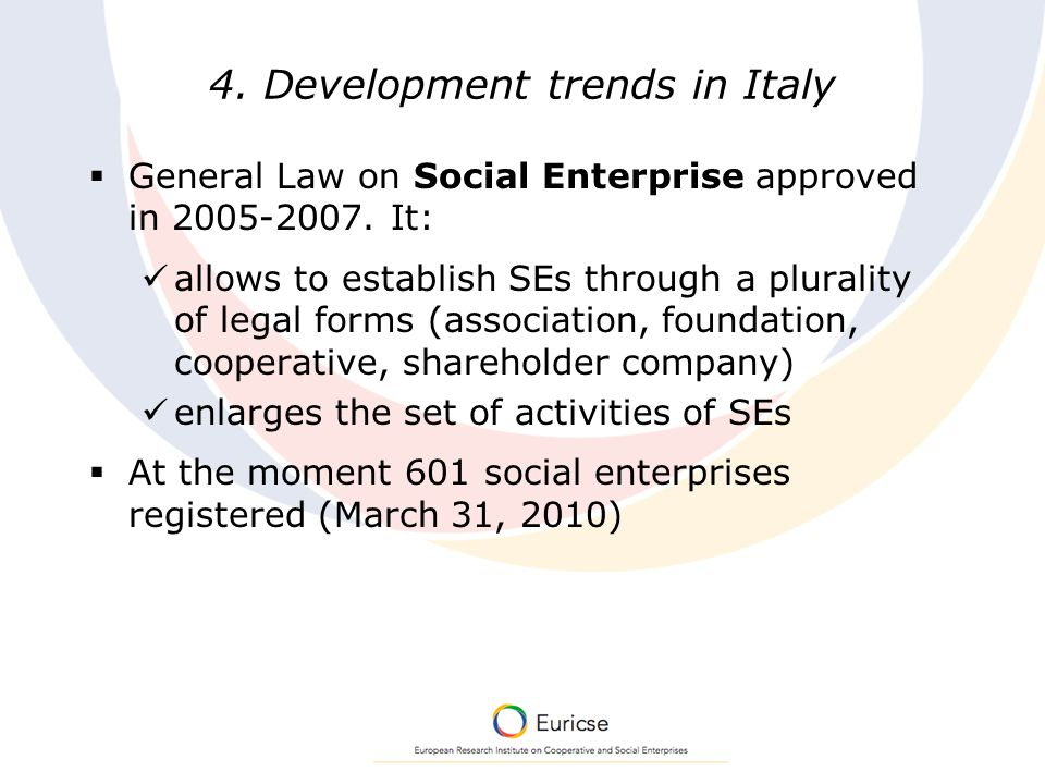 Social Enterprise and Innovation: lessons from the Italian