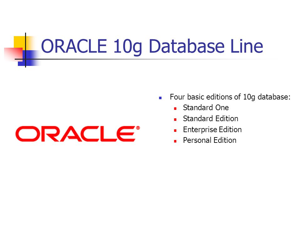 Corporate Databases Oracle 10g & Alpha 5  About ORACLE Founded in