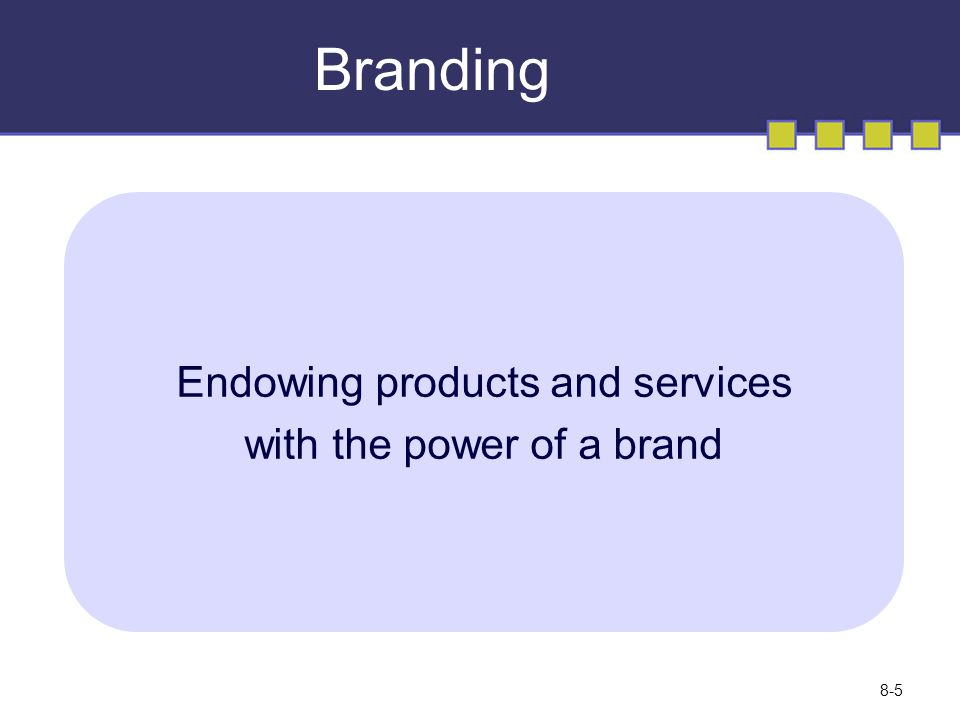 Branding Endowing products and services with the power of a brand © Copyright 2008 Pearson Education Canada 8-5