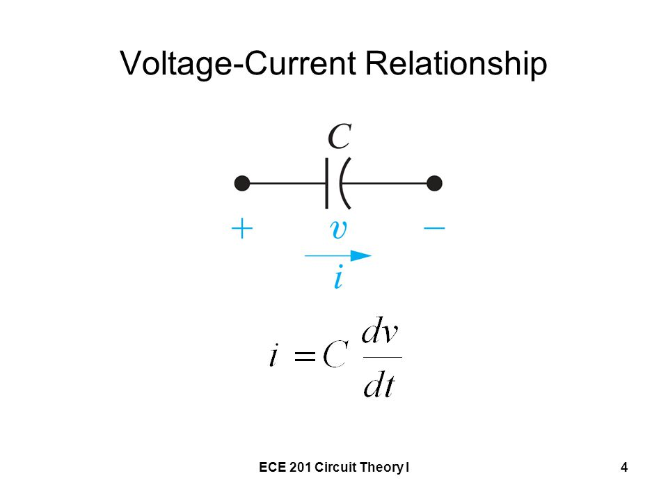 ECE 201 Circuit Theory I4 Voltage-Current Relationship