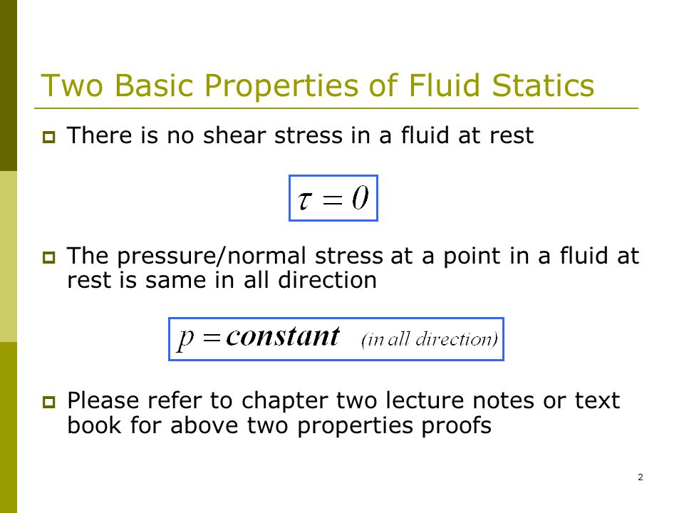 1 MECH 221 FLUID MECHANICS (Fall 06/07) Tutorial 2 FLUID