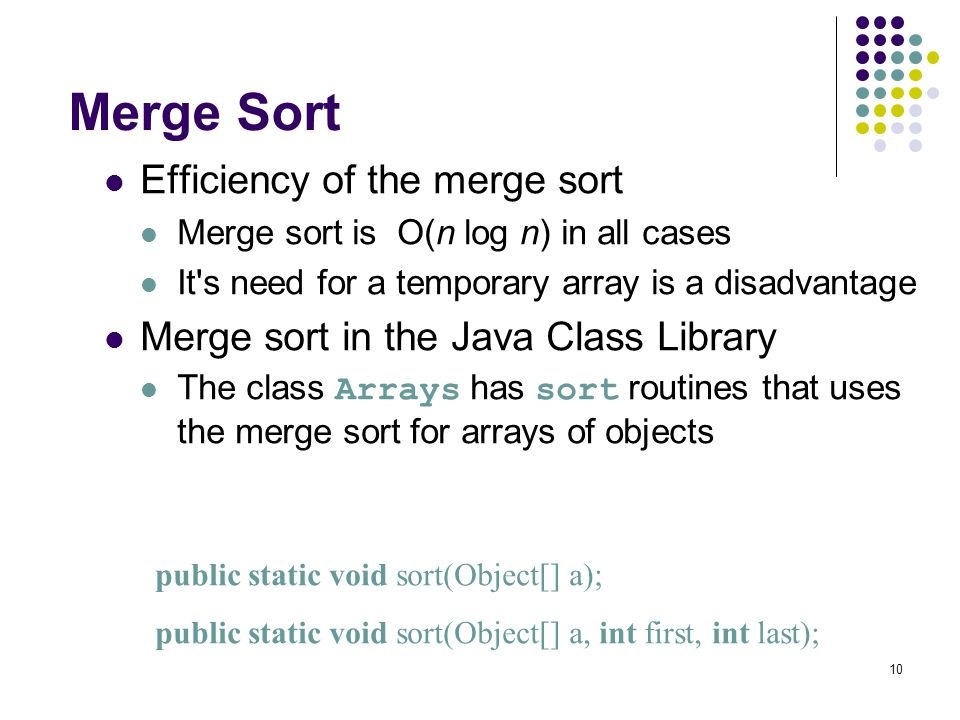 Faster Sorting Methods Chapter 9  2 Chapter Contents Merge Sort
