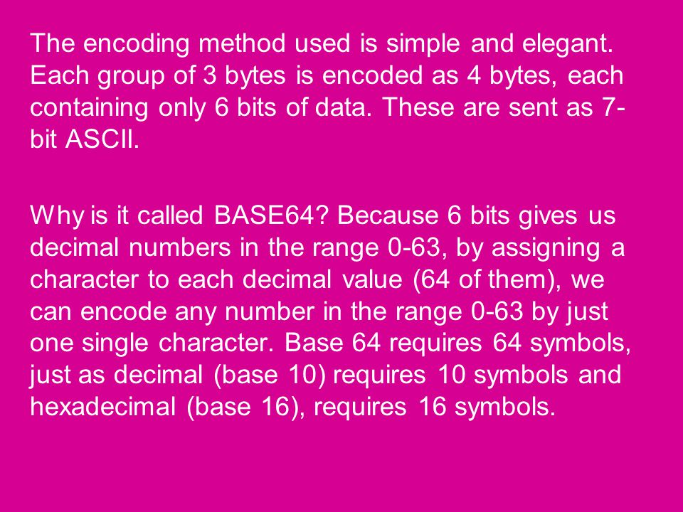 Traceroute Assignment  Base64 Encoding The SMTP protocol only allows