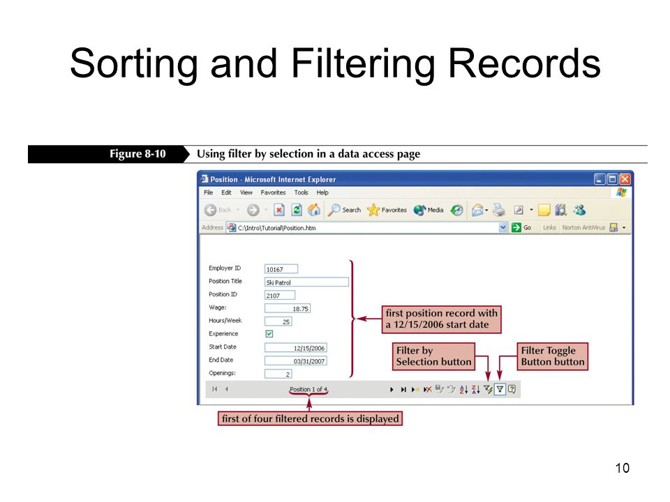 10 Sorting and Filtering Records